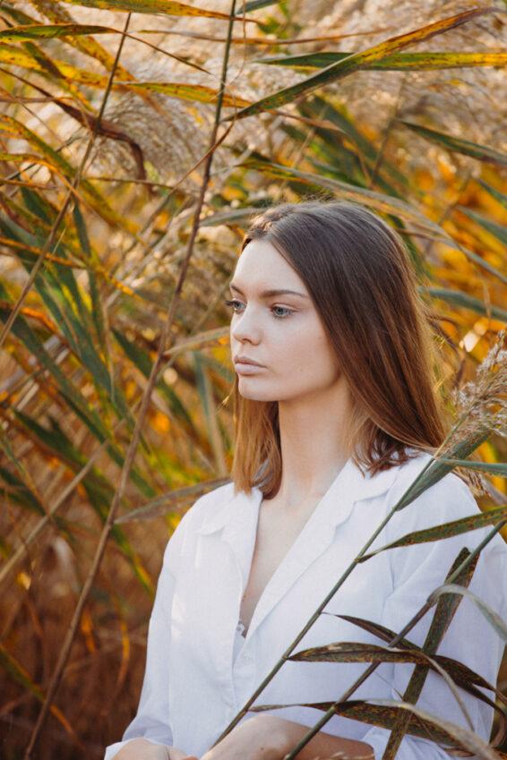 Portrait - Portraitfoto goldene Stunde in Laa an der Thaya Weinviertel